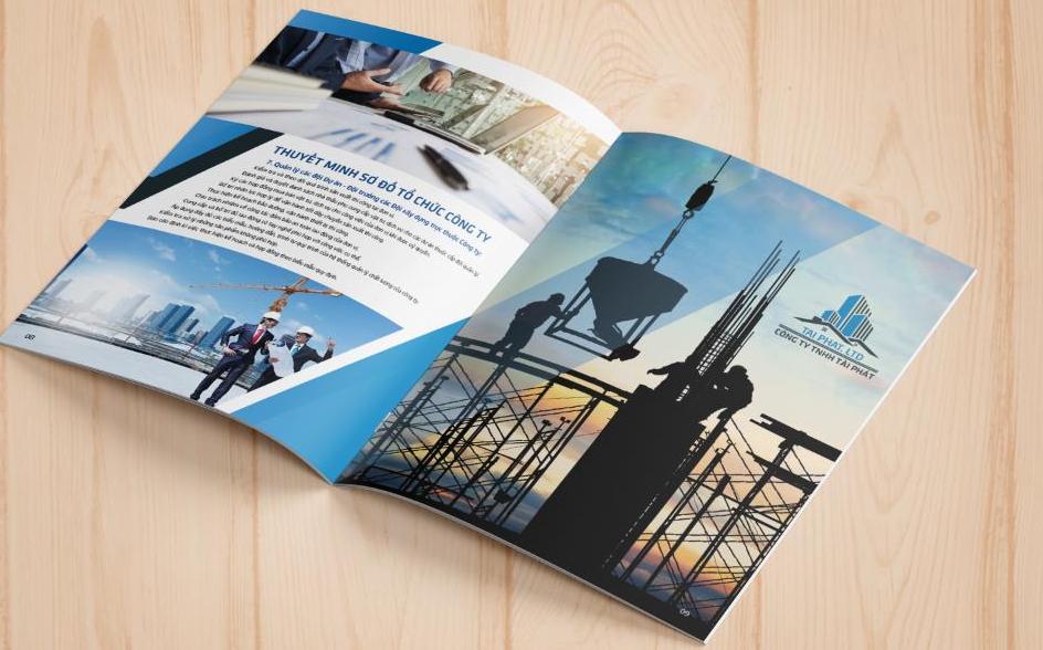 Thiết kế profile công ty xây dựng Tài Phát (Nguồn: Internet)