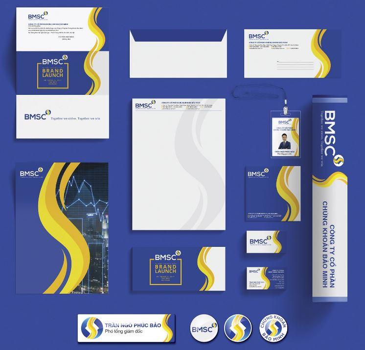 Thiết kế thương hiệu chứng khoán Bảo Minh BMSC