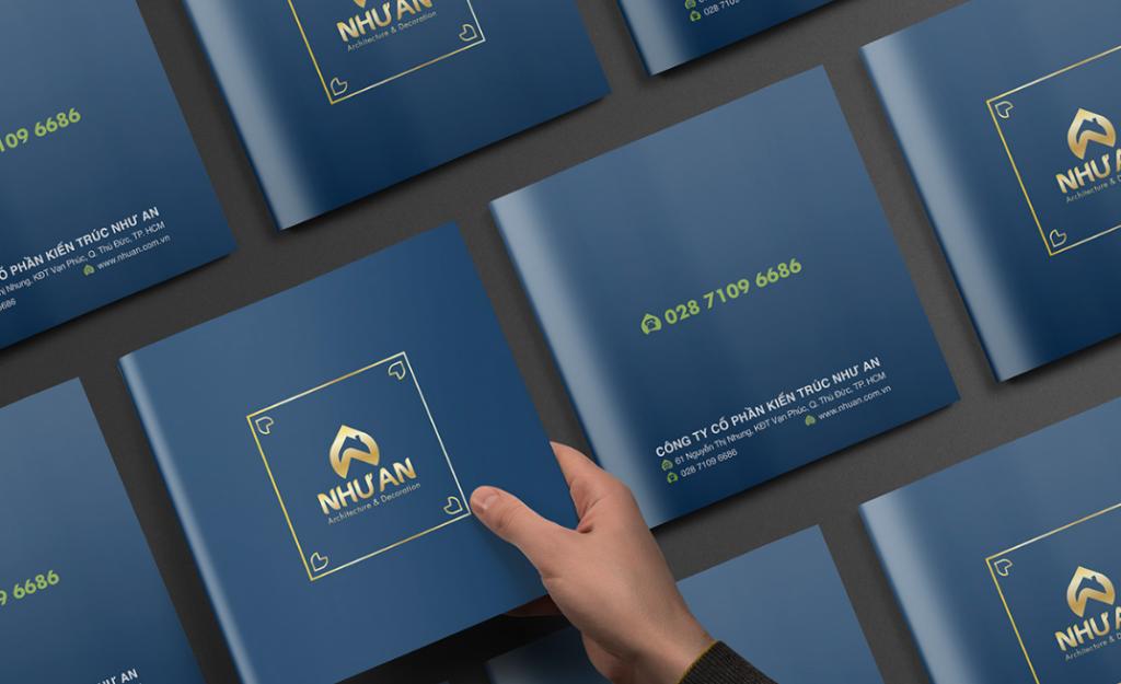 Thiết kế bìa profile công ty kiến trúc Như An