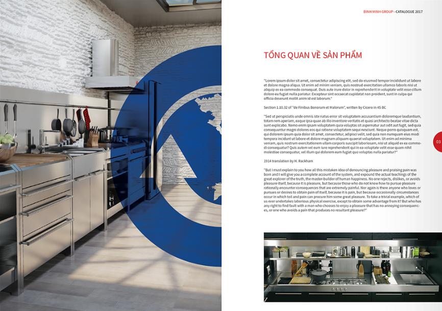 Thiết kế profile thương hiệu thiết bị bếp Bình Minh