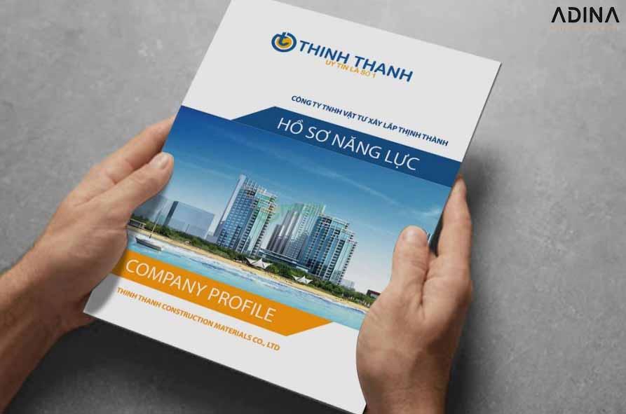Bìa hồ sơ công ty xây dựng Thịnh Thành dễ nhận diện ngành nghề (Nguồn: Internet)