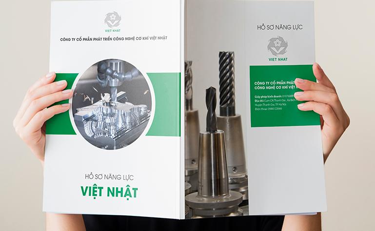 Bìa hồ sơ năng lực công ty cơ khí Việt Nhật (Nguồn: Internet)