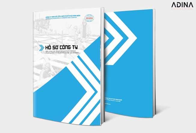Bìa hồ sơ năng lực công ty dạng dọc