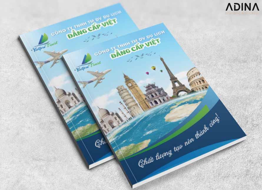 Bìa hồ sơ năng lực công ty du lịch Đẳng Cấp Việt (Nguồn: Internet)