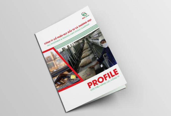 Thiết kế bìa hồ sơ năng lực công ty thương mại HLC (Nguồn: Internet)