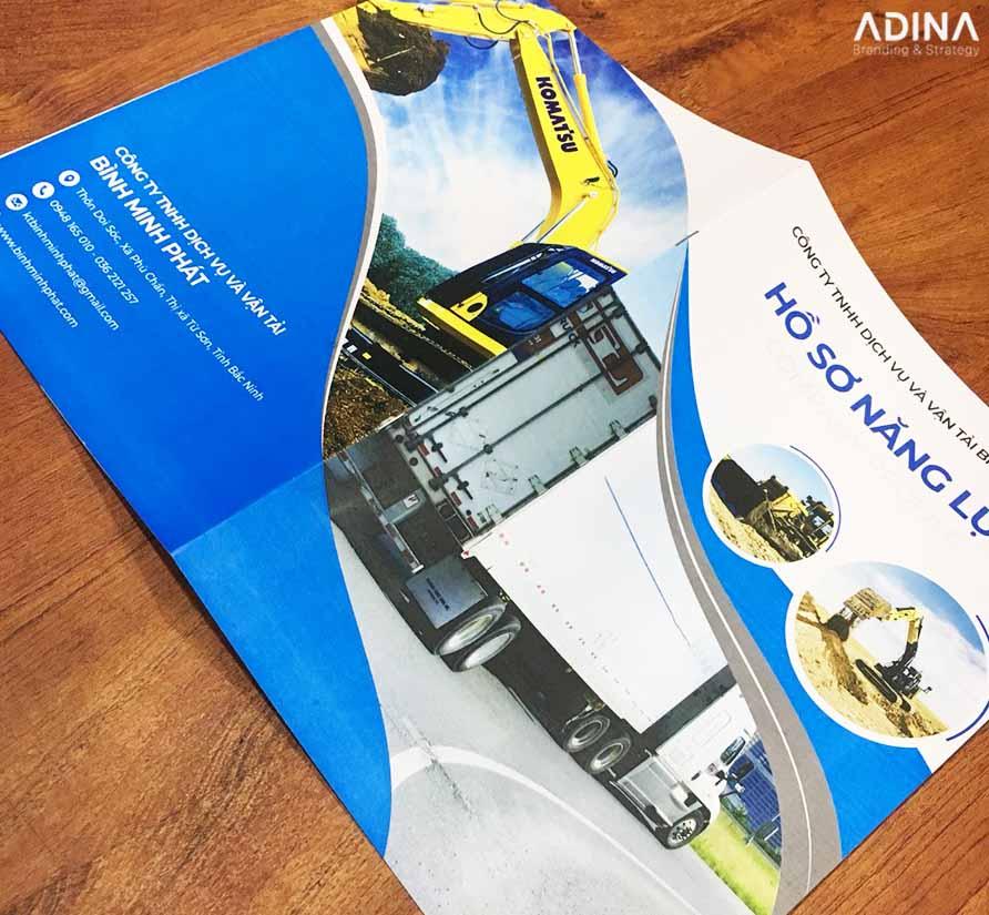 Bìa hồ sơ năng lực công ty vận tải Bình Minh Phát (Nguồn: Internet)