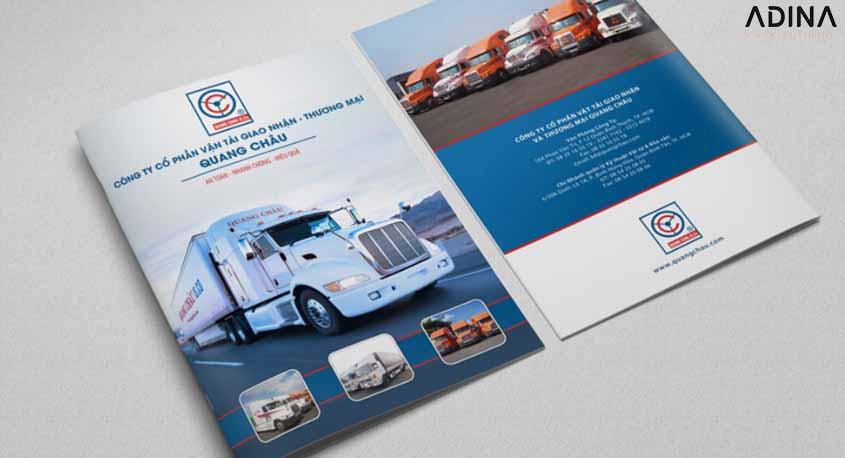 Bìa hồ sơ năng lực công ty vận tải Quang Châu (Nguồn: Internet)
