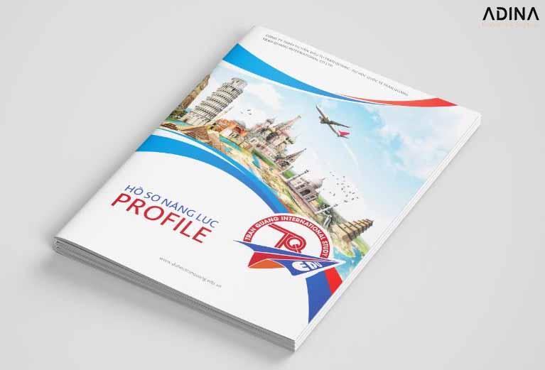 Hình ảnh bìa hồ sơ năng lực công ty du lịch Trần Quang (Nguồn: Internet)a