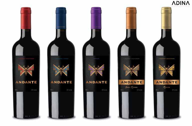 Mẫu bao bì rượu Andante sang trọng (Nguồn: Internet)