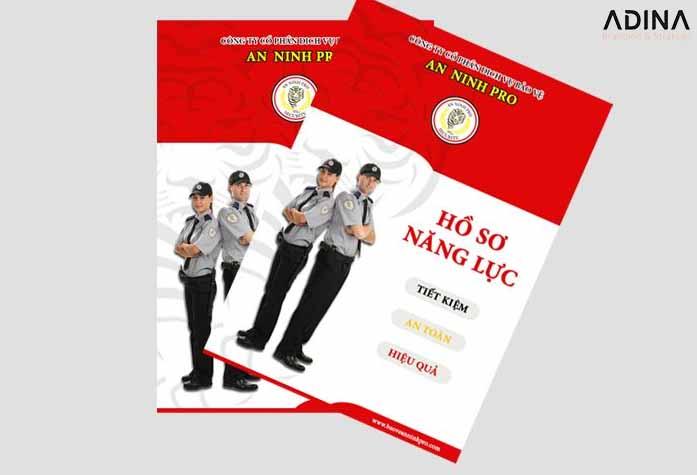 Mẫu bìa hồ sơ năng lực công ty an ninh Pro (Nguồn: Internet)