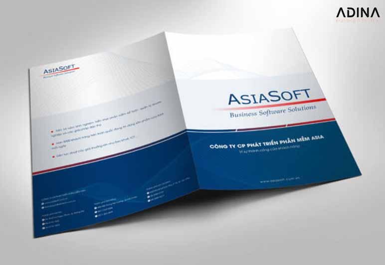 Mẫu bìa hồ sơ năng lực công ty công nghệ ASIASOFT (Nguồn: Internet)