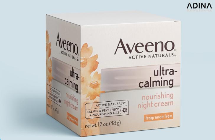 Mẫu thiết kế bao bì mỹ phẩm Aveeno (Nguồn: Internet)