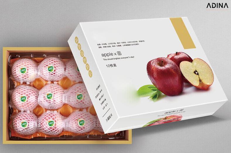 Thiết kế bao bì hộp giấy đựng táo (Nguồn: Internet)