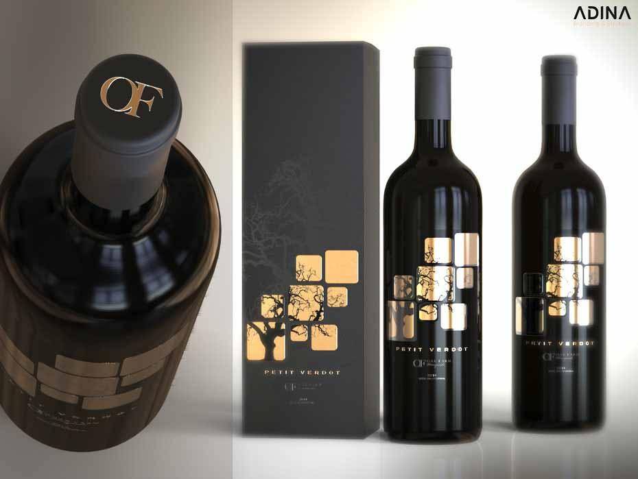 Thiết kế bao bì rượu vang Petit Verdot (Nguồn: Internet)