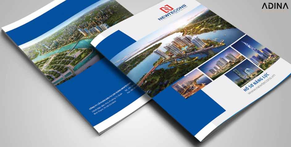 Thiết kế bìa hồ sơ năng lực công ty BĐS New Tecons (Nguồn: Internet)