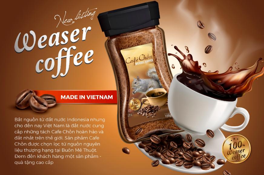 Bao bì cà phê chồn (Nguồn: Adina Việt Nam)