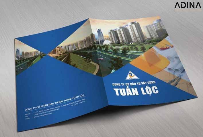Bìa hồ sơ năng lực công ty xây dựng Tuấn Lộc (Nguồn: Internet)