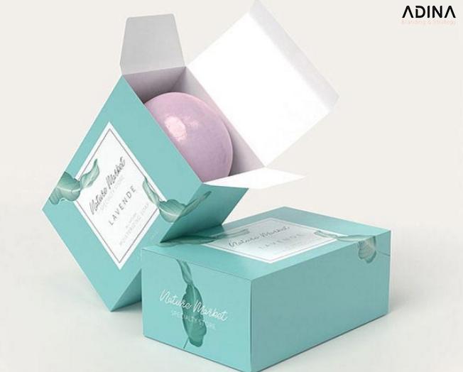 Mẫu bao bì mỹ phẩm Lavender (Nguồn: Internet)