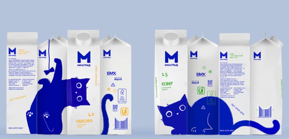 Xu hướng thiết kế bao bì sản phẩm sữa có thể tái chế (Nguồn: Internet)