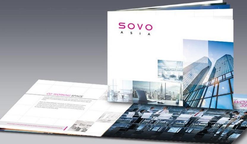 Thiết kế bìa hồ sơ công ty thương mại ấn tượng (Nguồn: Internet)