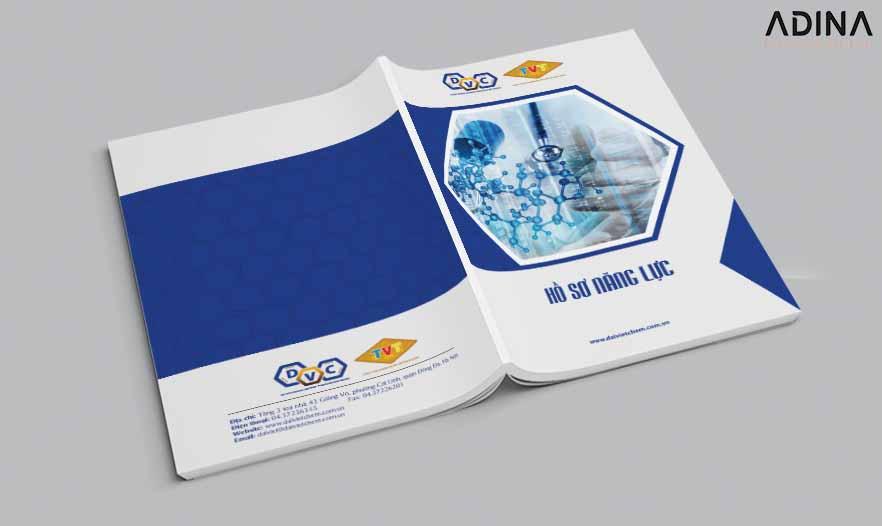 Thiết kế bìa hồ sơ năng lực công ty công nghệ DVC (Nguồn: Internet)