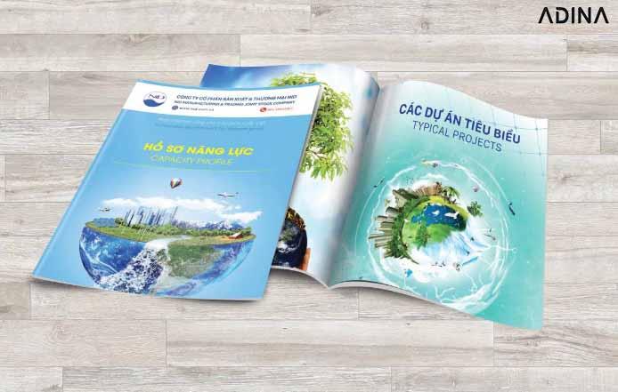 Thiết kế bìa hồ sơ năng lực công ty môi trường (Nguồn: Internet)