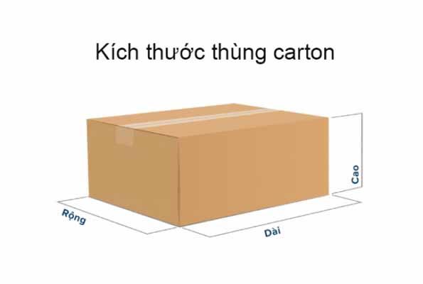 Tiêu chuẩn kích thước thiết kế hộp carton