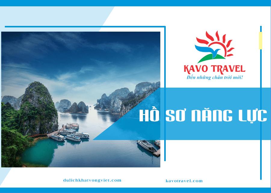 Bìa hồ sơ năng lực công ty du lịch Khát Vọng Việt (Nguồn: Internet)
