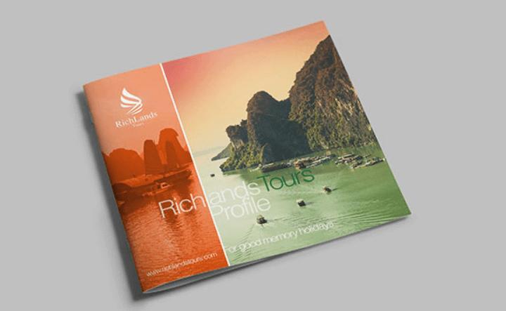 Mẫu thiết kế hồ sơ năng lực công ty du lịch RichLand (Nguồn: Internet)
