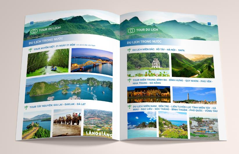 Thành phần của một hồ sơ năng lực công ty du lịch