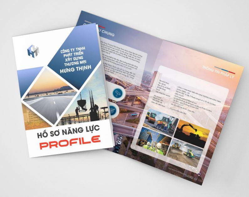 Mẫu thiết kế hồ sơ năng lực công ty TNHH Hưng Thịnh (Nguồn: Internet)