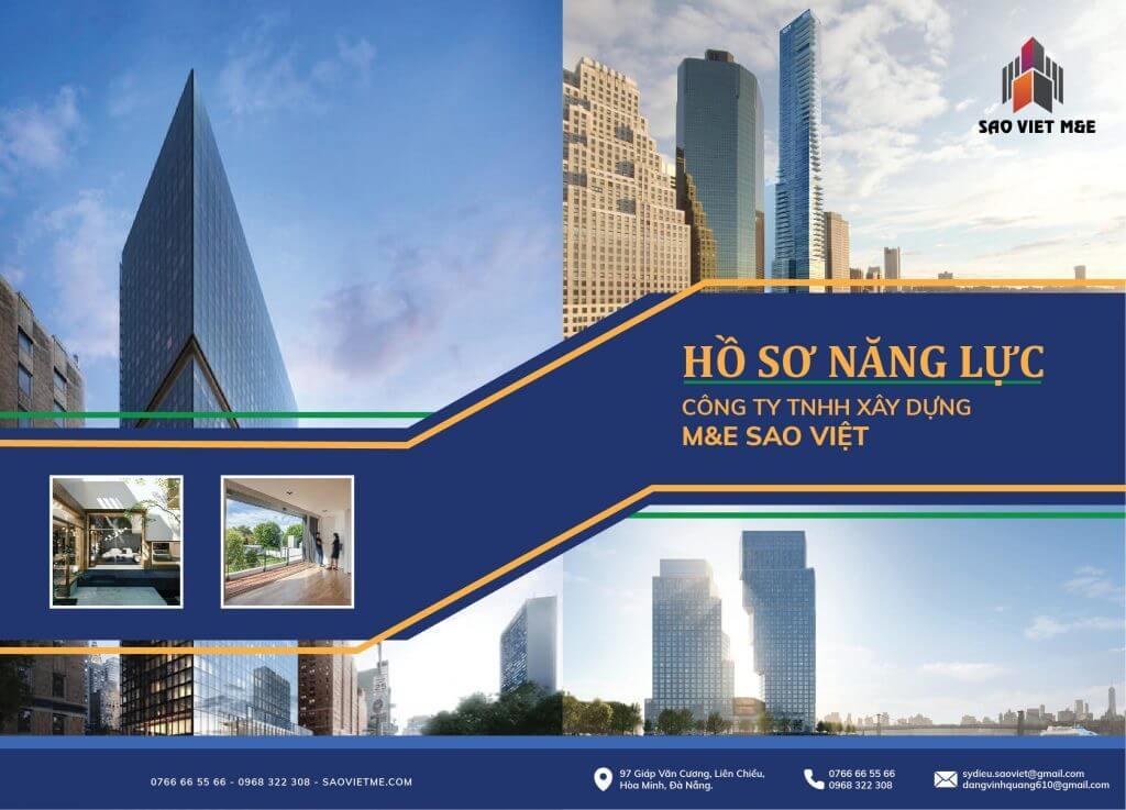 Mẫu thiết kế hồ sơ năng lực công ty TNHH Xây dựng M&E Sao Việt (Nguồn: Internet)
