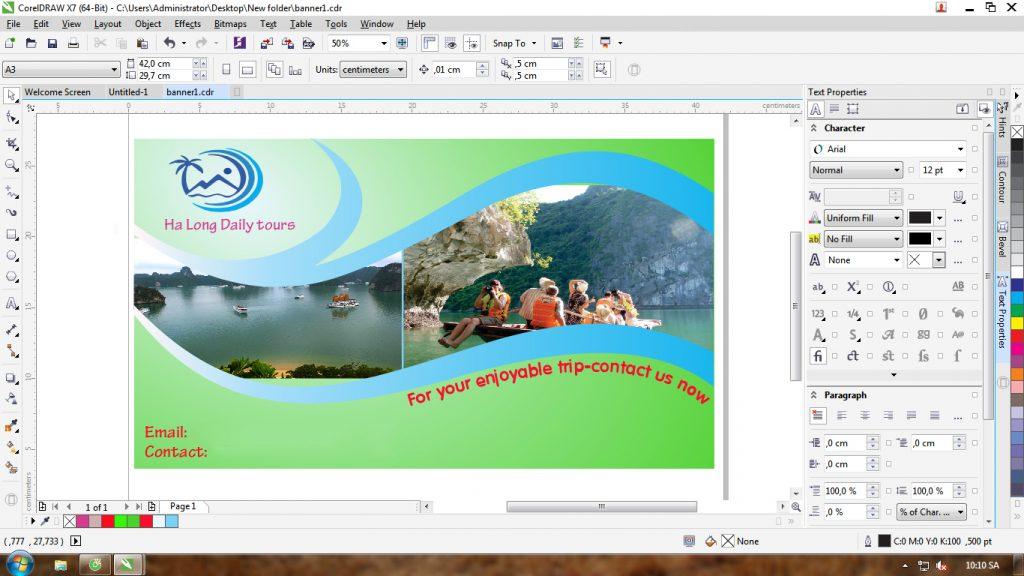 Thiết kế profile bằng phần mềm CorelDRAW
