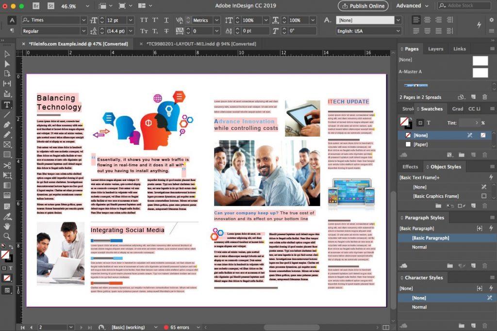 Thiết kế profile với phần mềm InDesign
