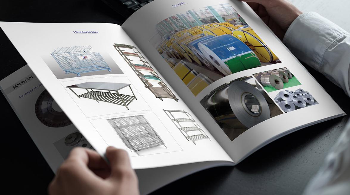Thiết kế profile công ty cơ khí