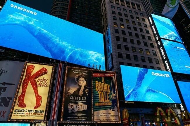 Biển bảng quảng cáo ngoài trời của Samsung