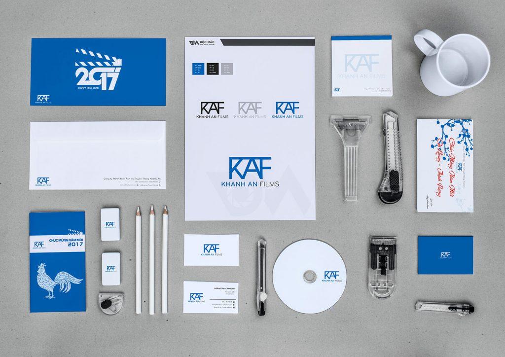 Bộ nhận diện thương hiệu CIP của KAF (Nguồn: Sưu tầm)