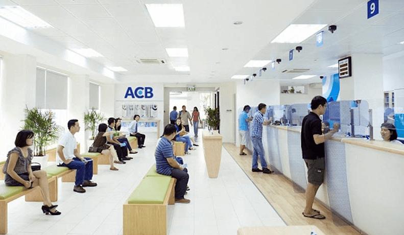 Quầy giao dịch ngân hàng ACB (Nguồn: Sưu tầm)