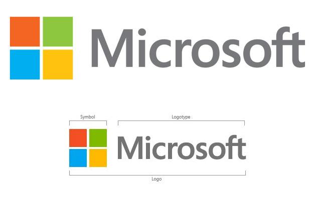 Logo trong nhận diện lõi của Microsoft