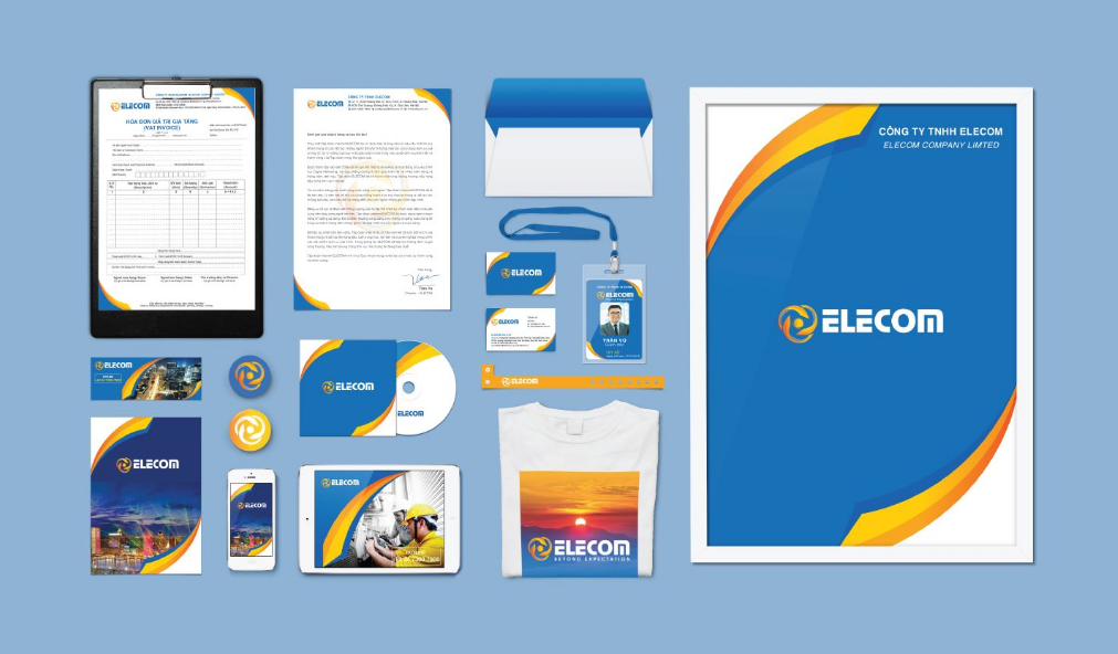 Mẫu bộ nhận diện văn phòng thương hiệu Elecom
