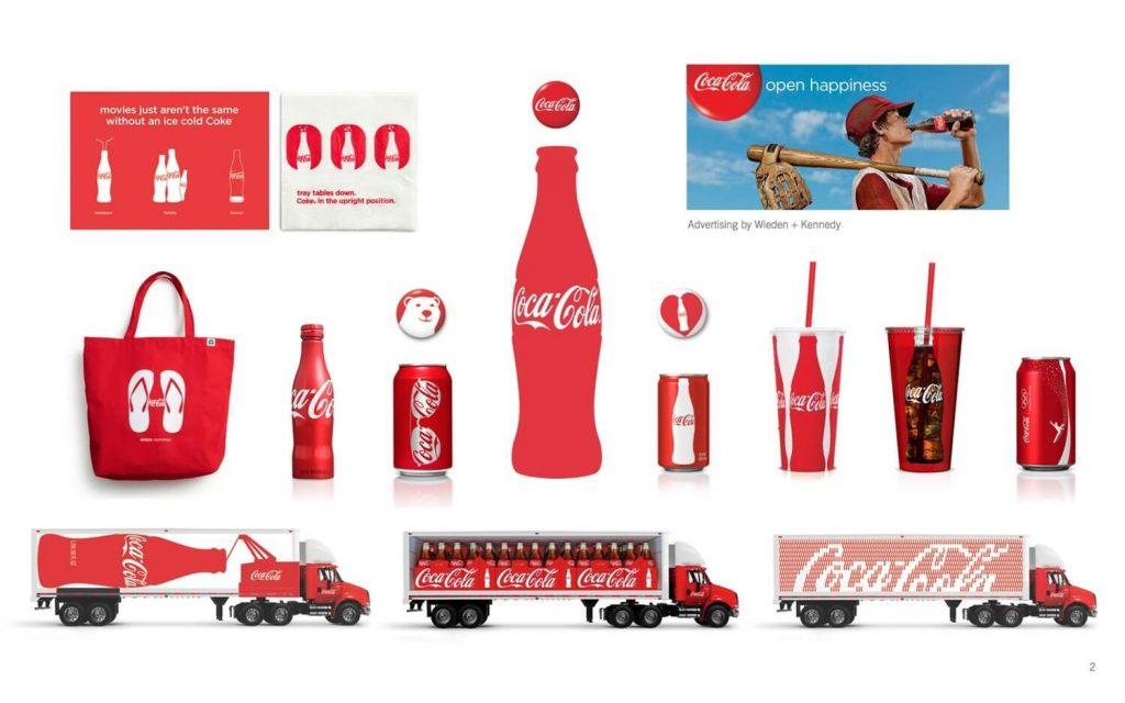 Nhận diện sản phẩm và đồ họa môi trường trong bộ nhận diện thương hiệu