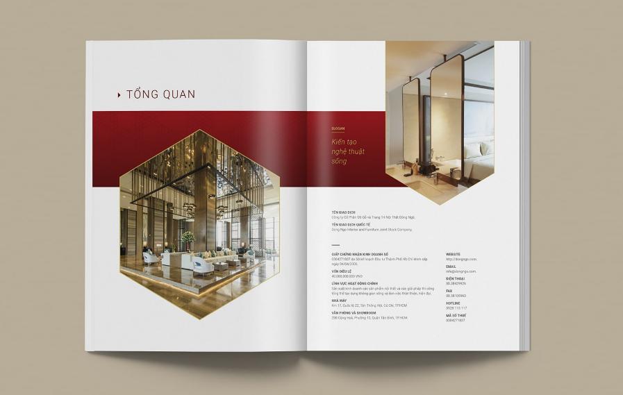 Thiết kế profile công ty thiết kế nội thất
