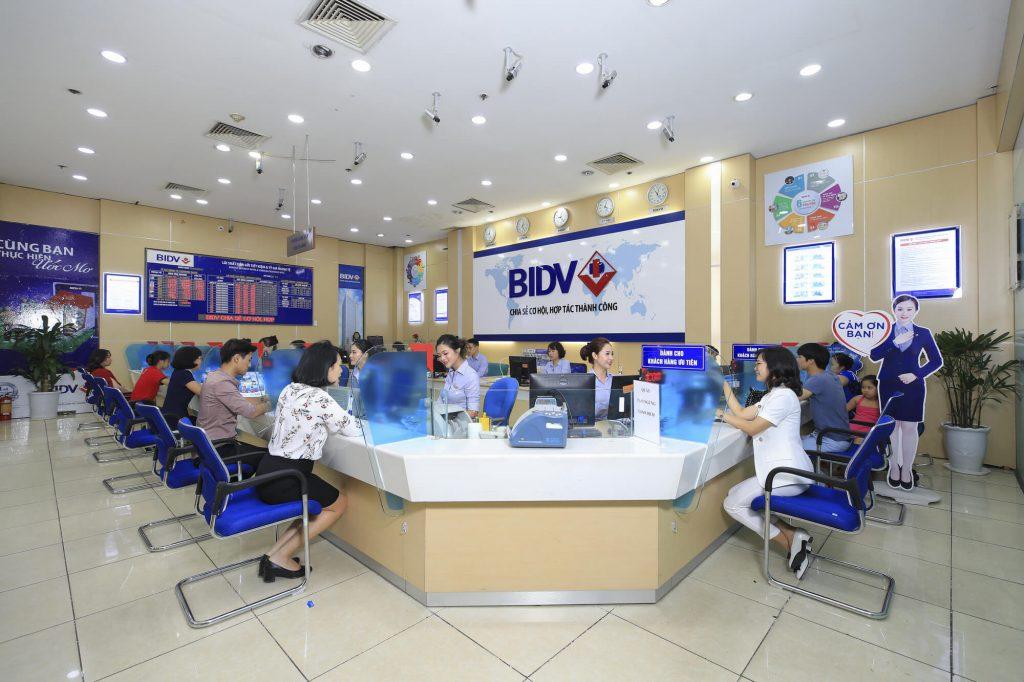 Văn phòng giao dịch ngân hàng BIDV (Nguồn: Sưu tầm)