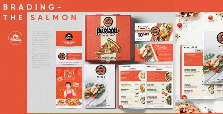 Bộ nhận diện thương hiệu nhà hàng The Salomon (Nguồn: Sưu tầm)