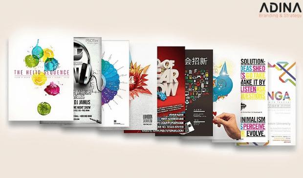 Chất liệu in ấn poster quảng cáo đa dạng