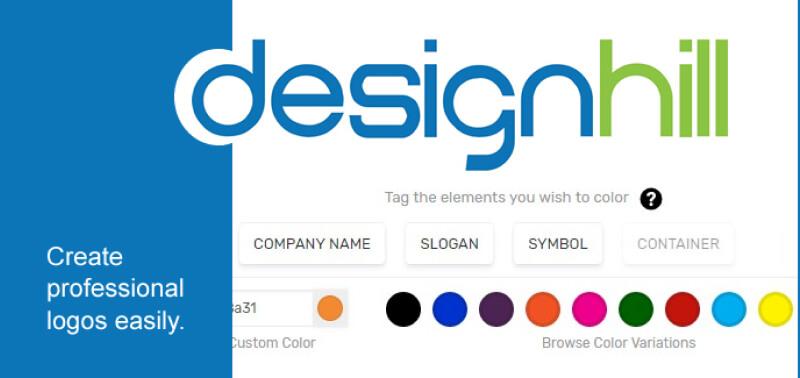 Designhill - Phần mềm thiết kế bộ nhận diện thương hiệu tiện ích
