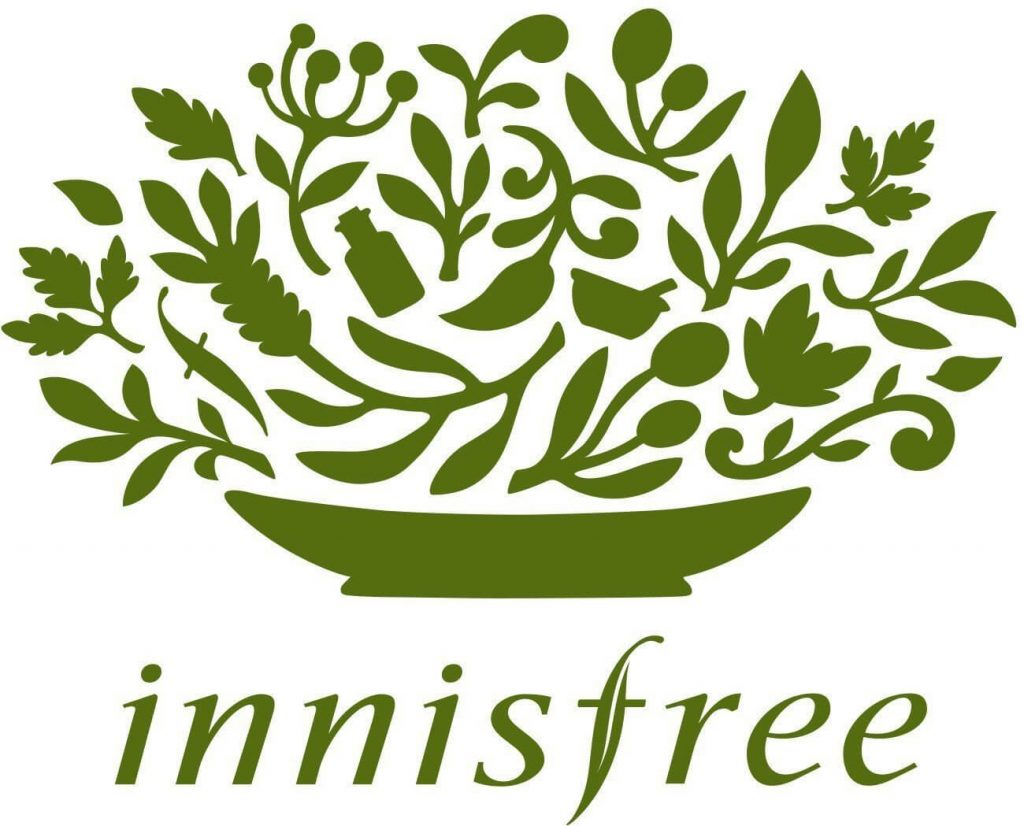 Hình tượng cành lá trong logo thương hiệu Innisfree