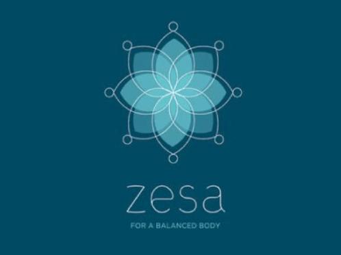 Logo mỹ phẩm Zesa hình bông hoa
