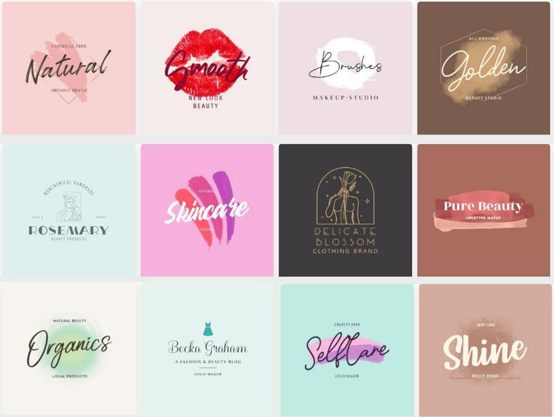 Lưu ý về màu sắc logo mỹ phẩm
