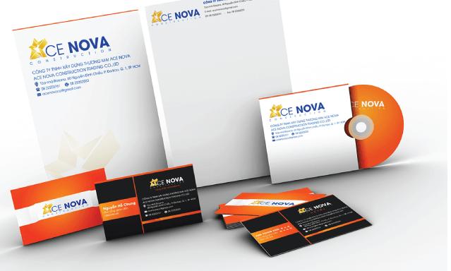 Mẫu bộ nhận diện thương hiệu CE NOVA (Nguồn: Sưu tầm)